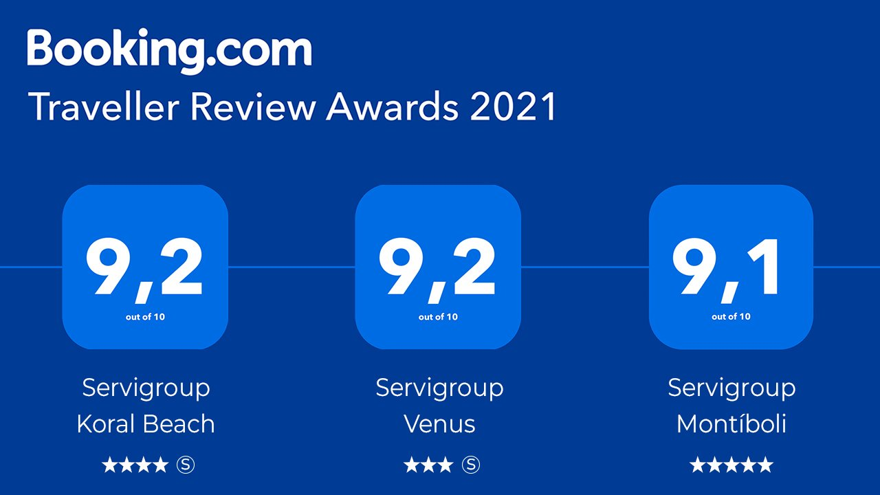 Servigroup Hotels awarded with the Traveler Review Awards 2021
