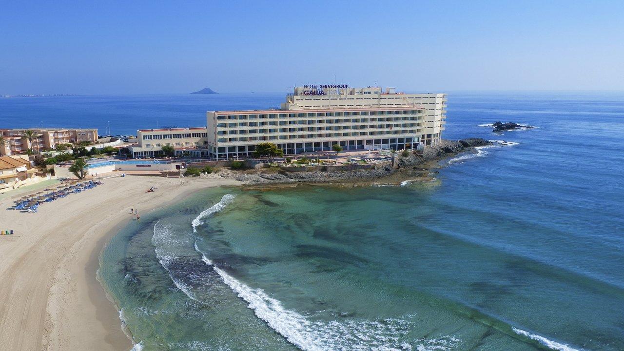 Panorámica Hotel Galúa en la playa