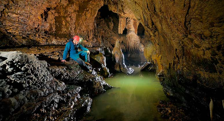 Speleology in the Caves of Sorbas