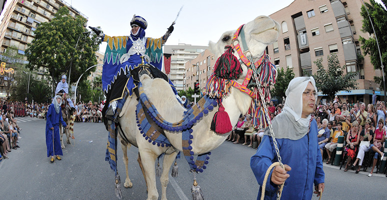 Moors parade with camels