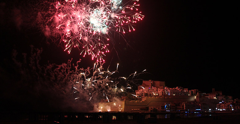 Fuegos artificiales en Playa Norte
