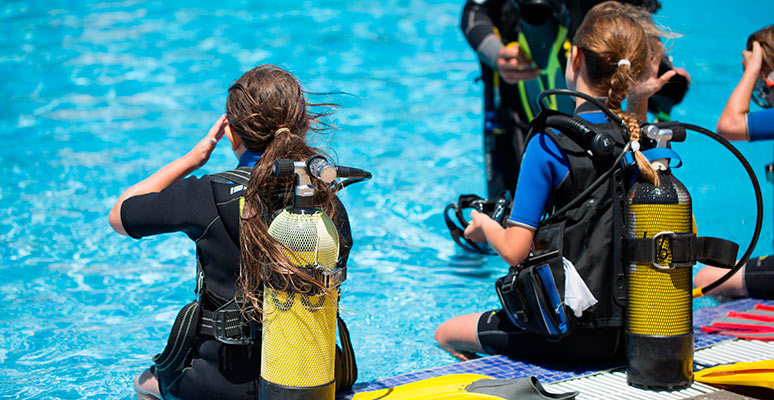 Diving lessons for children in Almería