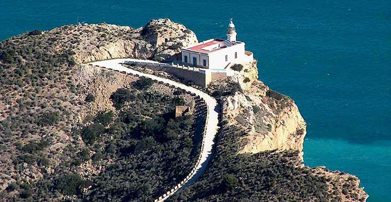Lighthouse in Albir close to Benidorm