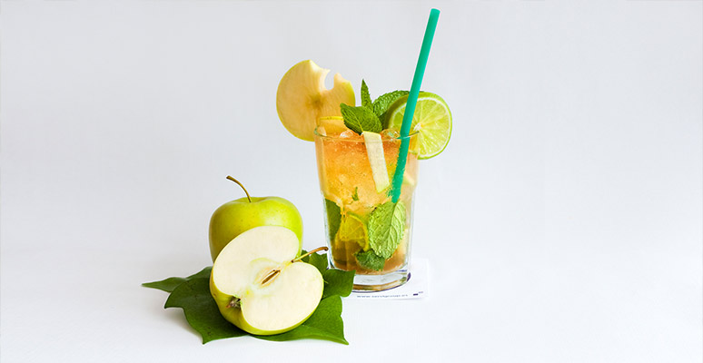 Mojito prepaired with apple